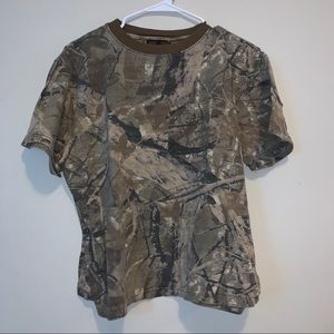 Pro Action Camo Women's Cropped tee